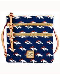 Dooney & Bourke - Denver Broncos Triple-zip Crossbody Bag - Lyst