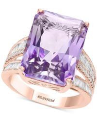 Effy Collection Effy® Pink Amethyst (15-1/2 Ct. T.w.) & Diamond (3/8 Ct. T.w.) In 14k Rose Gold