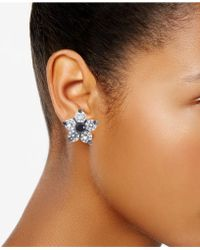 Betsey Johnson - Crystal Star Stud Earrings - Lyst