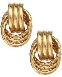 Macy's - 14k Gold Door Knocker Earrings - Lyst