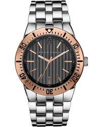 Sean John - Men's Black Diamond Collection Diamond Accent Silver-tone Bracelet Watch 48mm 10030888 - Lyst
