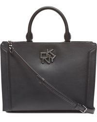 DKNY Catherine Leather Satchel - Black