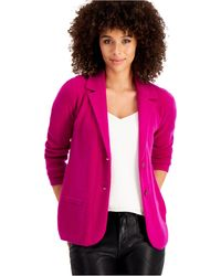 Charter Club Pure Cashmere Blazer, Regular & Petite Sizes, Created For Macy's - Purple
