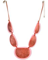 """Style & Co. Resin Statement Necklace, 21-1/2"""" + 3"""" Extender, Created For Macy's - Pink"""