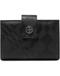 Giani Bernini Framed Indexer Embossed Plaid Wallet, Created For Macy's - Black