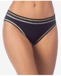 La Blanca - Metallic Ribbon-stitch Hipster Bikini Bottoms - Lyst