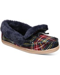 Charter Club Dorenda Moccasin Slippers, Created For Macy's - Blue