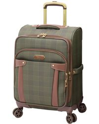 """London Fog Brentwood 20"""" Softside Carry-on Spinner Suitcase, Created For Macy's - Green"""