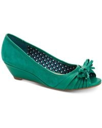 Charter Club Canikka Bow Wedge Pumps, Created For Macy's - Green