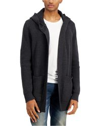 INC International Concepts Textured-knit Hooded Cardigan, Created For Macy's - Multicolor