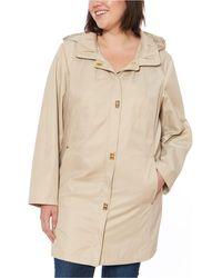 Jones New York Jones New York Petite Hooded Raincoat - Natural