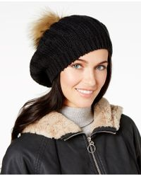 Charter Club - Cable-knit Pom-pom Beret - Lyst