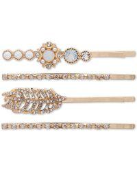 Lonna & Lilly 4-pc. Crystal & Imitation Pearl Bobby Pin Set - Natural
