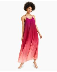 Bar Iii Pleated Ombré Maxi Dress, Created For Macy's - Red