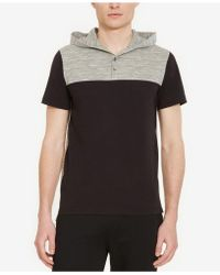 Kenneth Cole Reaction - Men's Colorblocked Henley Hoodie - Lyst