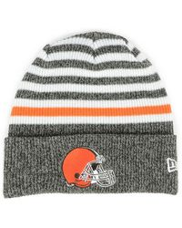 Lyst - Ktz Cleveland Cavaliers Striped Cuff Knit Hat in Gray 7cf0db053