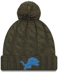 Lyst - KTZ Denver Broncos Salute To Service Pom Knit Hat in Green 44bea9335