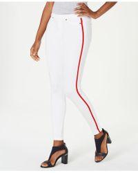 Hue - ® Plus Size Racer Stripe Original Denim Leggings - Lyst
