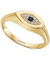 Effy Effy® Diamond Accent Evil Eye Ring In 14k Gold - Metallic