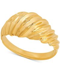 Macy's - Textured Dome Ring In 10k Gold - Lyst