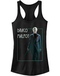 Fifth Sun Harry Potter Draco Malfoy Portrait Juniors Racerback Tank - Black