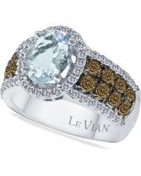 Le Vian - Aquamarine (1-3/8 Ct. T.w.) And Diamond (3/4 Ct. T.w.) In 14k White Gold - Lyst
