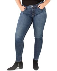 Silver Jeans Co. Plus Size Suki Skinny Jeans - Blue