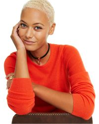 Charter Club Crew-neck Cashmere Sweater, In Regular And Petites, Created For Macy's - Red