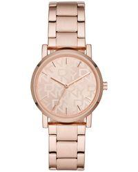 DKNY - Soho Rose Gold-tone Stainless Steel Bracelet Watch 34mm - Lyst