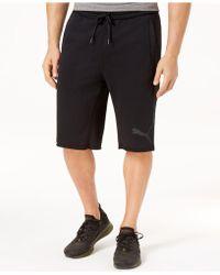"""PUMA - French Terry 12"""" Bermuda Shorts - Lyst"""