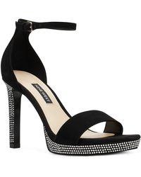 Nine West Edyn Platform Sandals - Black