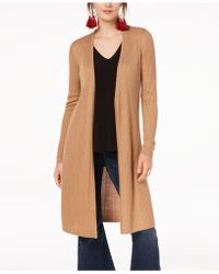 INC International Concepts Ribbed Duster Cardigan, Only At Macy's - Multicolor
