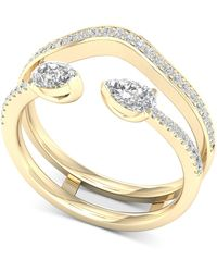 Macy's - Diamond Pear Enhancer Ring (1/2 Ct. T.w.) In 14k Gold - Lyst