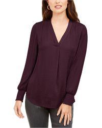 Alfani V-neck Top, Created For Macy's - Purple