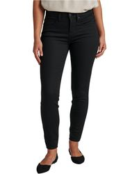 Jag Cecilia Mid Rise Skinny Jeans - Black