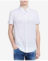 Calvin Klein - Men's Colorblocked Striped Shirt - Lyst
