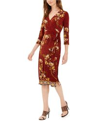 INC International Concepts Inc Paisley Wrap Dress, Created For Macy's - Red