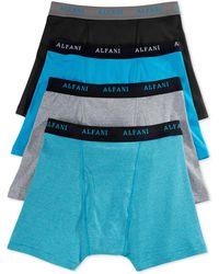Alfani Men's 4-pk. Cotton Boxer Briefs - Blue