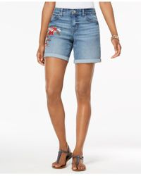 Style & Co. - Petite Embroidered Denim Shorts, Created For Macy's - Lyst