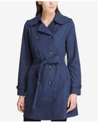 DKNY - Double-breasted Trench Coat, Created For Macy's - Lyst