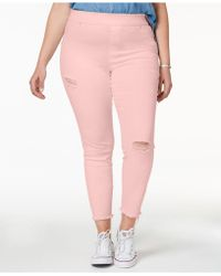Hue - ® Plus Size Original Denim Ripped Knee , Created For Macy's - Lyst