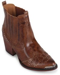 Wanted Lonestar Western Inspired Ankle Bootie - Brown