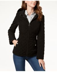 Laundry by Shelli Segal - Hooded Quilted Jacket - Lyst