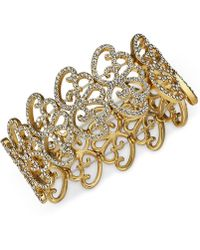 INC International Concepts - I.n.c. Silver-tone Pavé Openwork Stretch Bracelet, Created For Macy's - Lyst