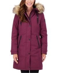 Vince Camuto - Faux-fur-trim Hooded Parka, Created For Macy's - Lyst
