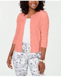 Charter Club - Long-sleeve Button-front Cardigan, Created For Macy's - Lyst