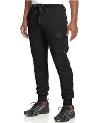 PUMA - Knit Cargo Jogger Pants - Lyst