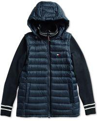 bdda136b4288c Lyst - Calvin Klein Performance Plus Size Mixed-Media Asymmetrical ...