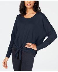 Style & Co. Tie-hem Sweater, Created For Macy's - Blue
