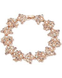 Marchesa - Crystal & Imitation Pearl Cluster Flex Bracelet - Lyst